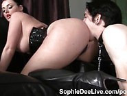 Sub Male Slave Eats Sophie Dee's Ass!
