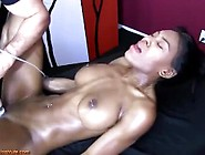 Black Babe Has Screaming Squirting Orgasms Wwhite Masseuse