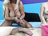 Busty Hotties Bridgette B And Casey Cumz Blow One Hard Penis