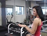 3 Lesbians Working Out Then Fucking Each Other