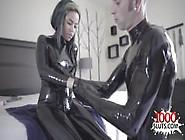 Hot Girl Latex And Cumshot