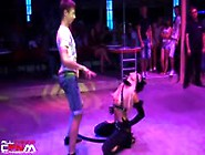 Catwoman Stripper Gets Frisky & Strips Guy In Serb