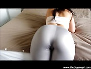 Big Ass Girl Spandex Ass Cumshot Leggings Big Booty Tease