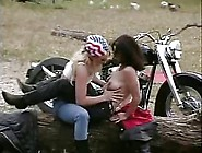 Outdoor Threesome With Bikers