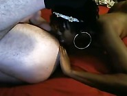 Black Babe Eats Ass, Sucks Balls And Sits On His Face