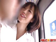 Nanako Plays With Stiffy In Subway
