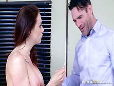 The Brunette Went Into The Office Of A Public Servant And Seduce