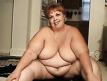 Chatty Mature Bbw Strips And Flashes Her Fat Belly