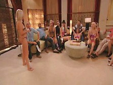 Hardcore Reality Show With Biracial Orgy