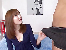 Yuma Asami Doesn't Mind To Demonstrate Her Cock-Sucking Skills