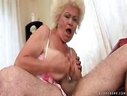 Granny Gives His Young Dick A Hot Blowjob