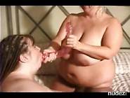 Two Fat Bbw Women With Toys Fuck Their Pussies