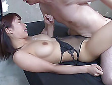 Japanese Brunette Rides With Amazing Vigor And Enjoys The Sessio