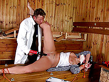 Girl Bound By Electrical Wire And Fucked By His Big Dick