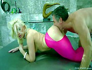 Blonde Bombshell Anikka Albright In Pink