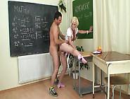 Blonde Schoolgirl Fucks Her Teacher