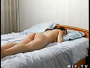 Young Busty French Brunette Fucked On The Bed