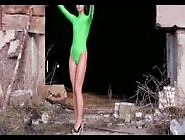 Green Leotard And Pantyhose