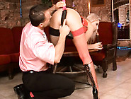 Passionate Whore Gets A Dirty Ebony Dildo In Hairy Kitty