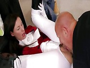 Too Voracious Horsewoman Lara Latex Tears Her Pants For Being Fu