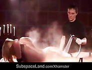 Washing Dirty Slave Girl And Punish Her With Spanking