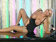 Bimbo Lucy Zara Chat On Television 7 Tits Out