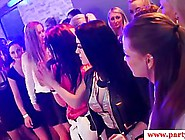 Passionate Girls And Guys Are Partying In The Night Club And Giv
