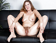 American Milf Valentine Fingers Her Hairy Pussy