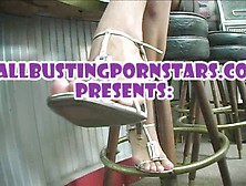 Ballbusting Star In The Club
