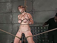 Lusty Redhead Lady With Big Tied Boobs Is Punished By Her Black