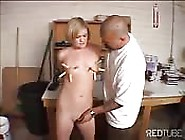 Blonde Tied Up And Tits Abused