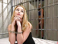 Holly Morgan Gets Toyed And Dominated By Sasha Sparks In A Priso