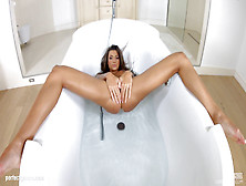 Melena Tara (Maria Rya) Plays With Her Pussy And Ass In Bathtub