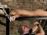 Hot Twink Scene Master Kane Has A Fresh Toy,  A Iron Bed Fram