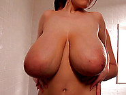 Big Titty Japanese Babe Giving A Steamy Blowjob In The Bathroom
