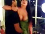 Drunk Dancing And Flashing Fake Boobs