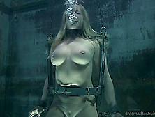 Big Tits Blonde Giving Huge Dick Blowjob After Bdsm Torture