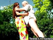 Slutty Teen Fucked Hard By The Horny Grandpa Video