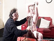 Blonde Bondage Babe Amber West As Damsel In Distress And Restrai