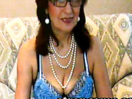 Beauty Granny With Glasses Gives A Sexy Webcam Show