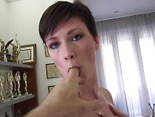 Rocco Siffredi Cock Rams A Short Haired Beauty