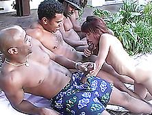 Wonderful Malaysia Gets Gangbanged By Three Big Black Cocks