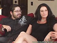Fat Brunette Is Getting Fucked While Her Husband Is Watching Her