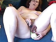 Horny Slut Hairy Wife Homealone Playing Anal Games On Cam