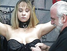 Bound Bdsm Whore Gets Nipples Pinched And Ass Examined By Old Ma