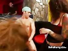 Blonde Freaky Slut Sucking Dick