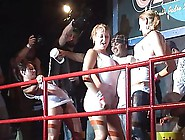 Three Naughty Busty Females Dancing On Stage In Prurience