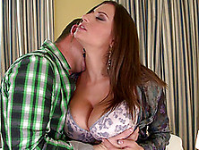 Guy Gets Lucky With Busty Brunette Sensual Jane's Amazing Body