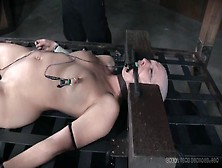 Electro Pain And Slow Water Torture For A Bald Girl