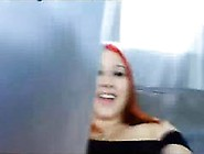 Redhead Bitch On Cam Show Off Her Beautiful Melons